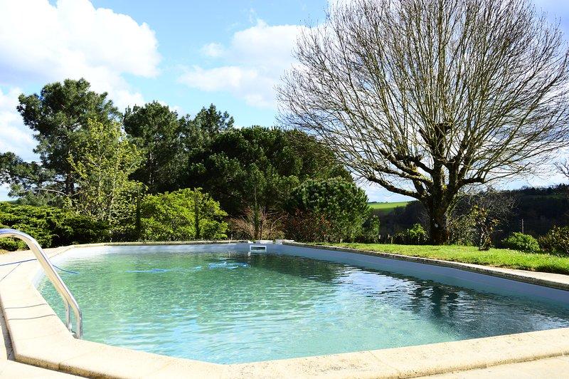 Maison de vacances avec grande Piscine chauffée 8/10 personnes avril a octobre, vacation rental in Meilhan-sur-Garonne