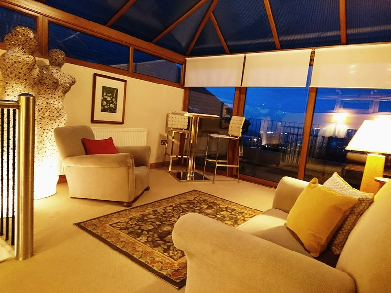 Conservatory with balcony commanding wonderful views