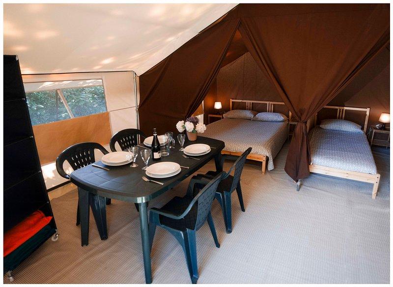Canvas Lodge Tent. Inside tent & Canvas Lodge Tent - UPDATED 2019 - Holiday Rental in Beuzec-Cap ...