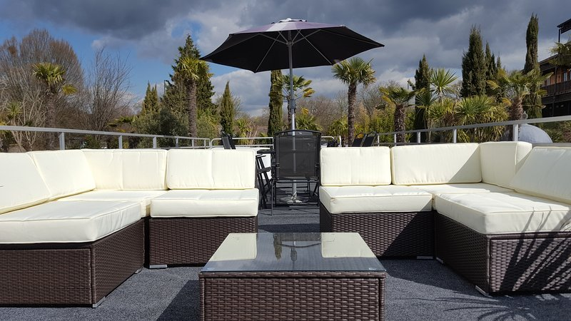 Outside seating area on the roof garden