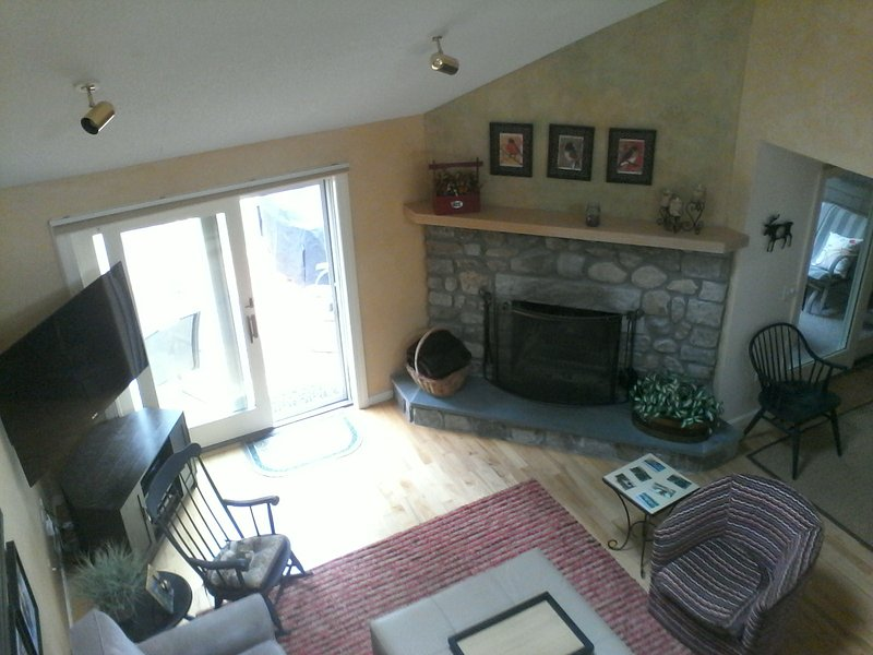 Aerial view of family room