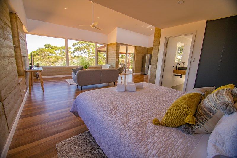 The spacious villa