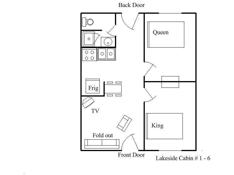 Floor Plan Kabinen 1-6