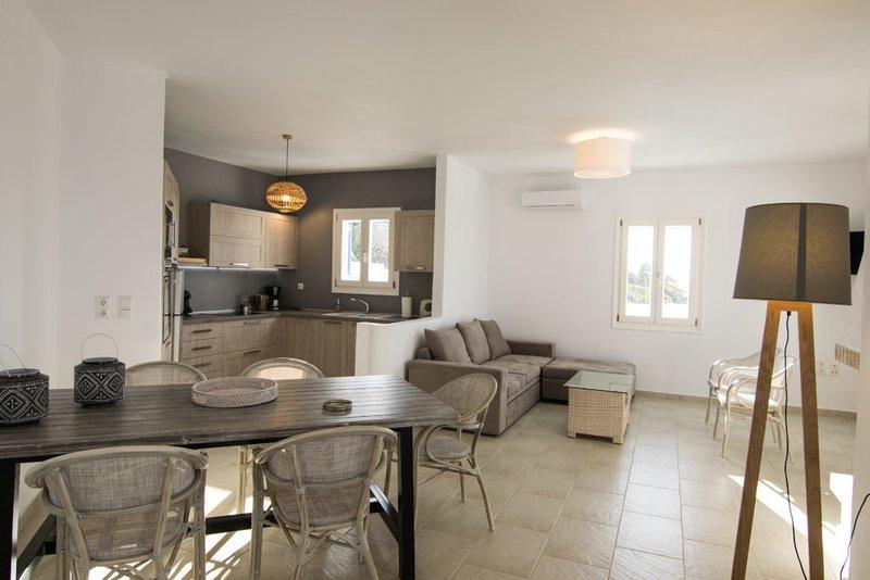 Apricot & Sea Villa Kouros - semi private pool, holiday rental in Mikri Vigla