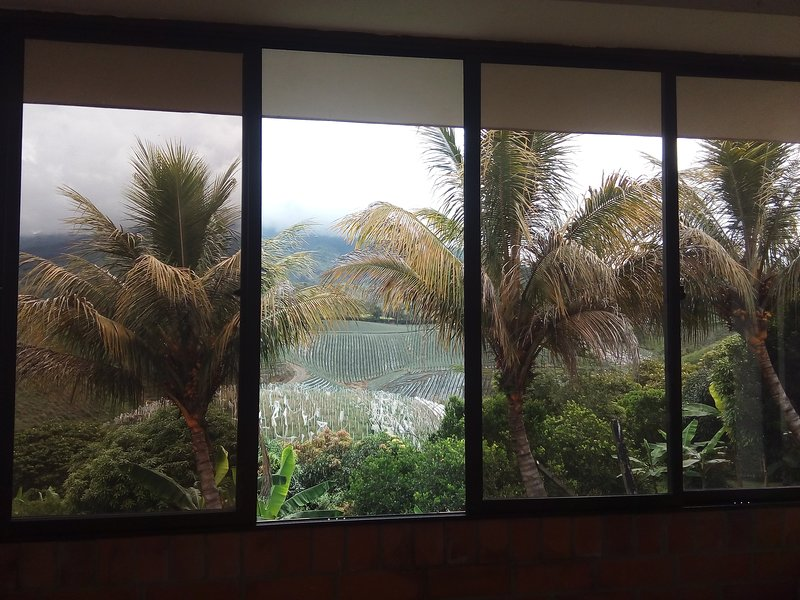 View from the social area to the mountains