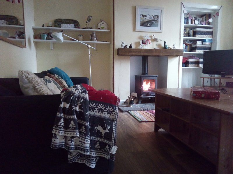 cosy in winter, with it's log burner, but quiet and peaceful in summer months.