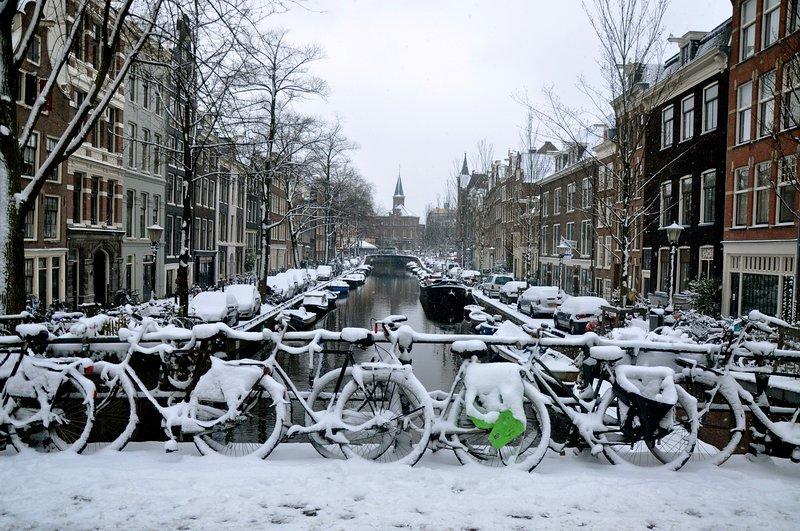Amsterdam in wintertime