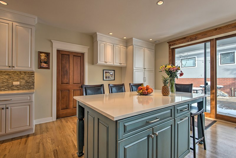 You'll love every part of this professionally-designed kitchen.