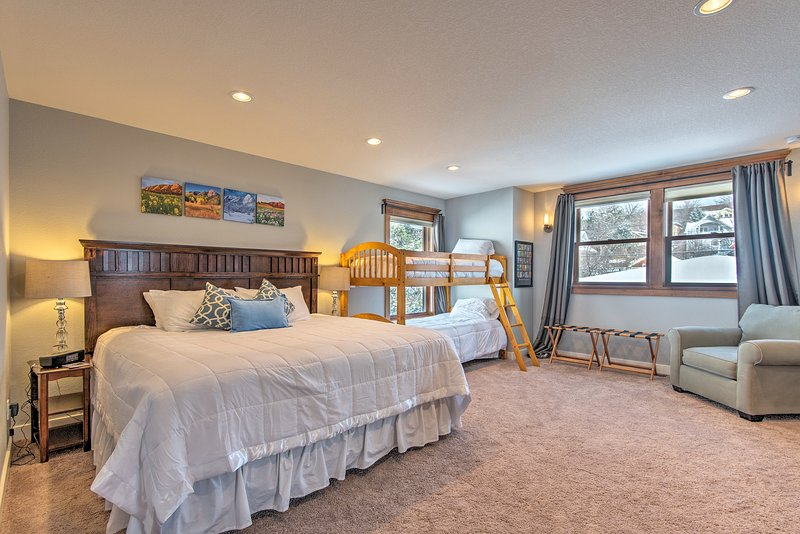 The master bedroom is bright and spacious.
