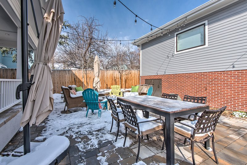 The backyard will easily become  your favorite spot.