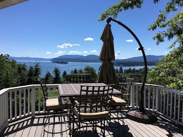 Outside deck w lake views