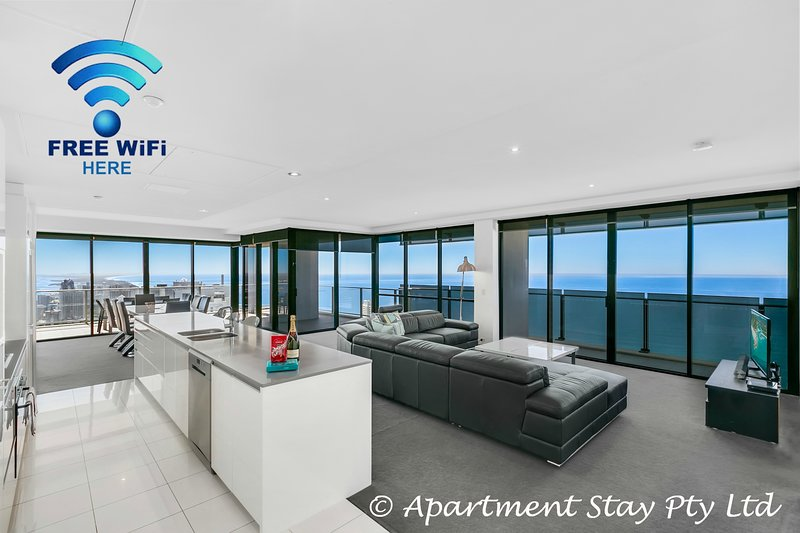 Oh the luxury of space, extra Large Combined Living and Dining Rooms Open Plan Spectacular View