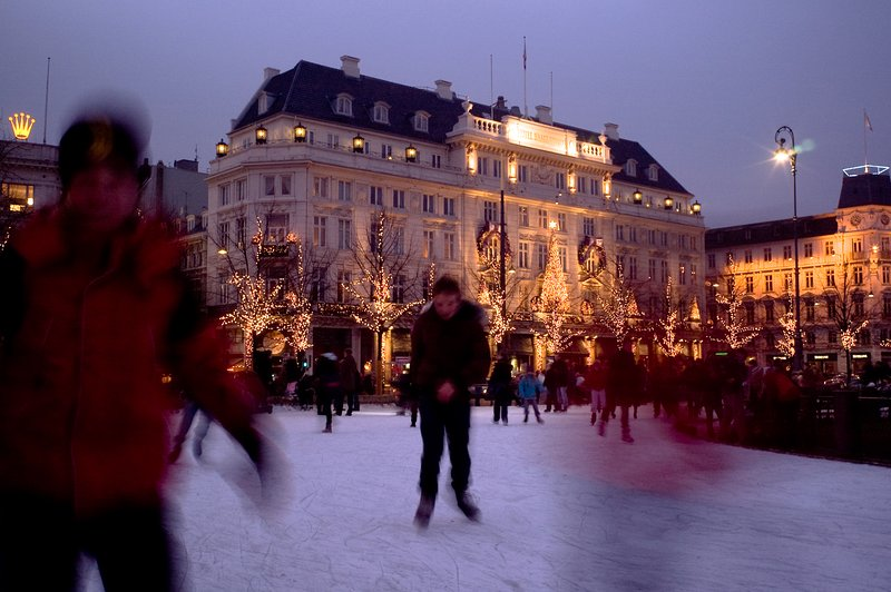 Around the corner square called 'Kongens Nytorv'.