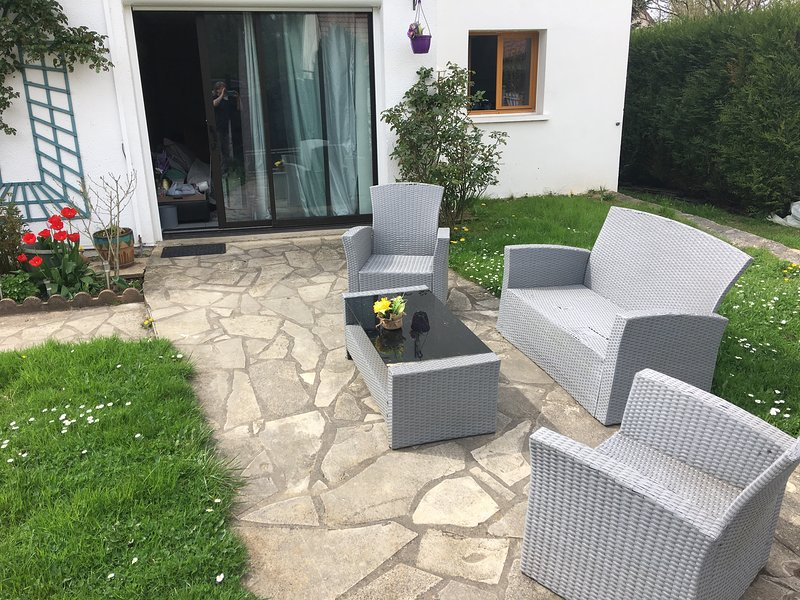Entrance to Provence with outdoor furniture