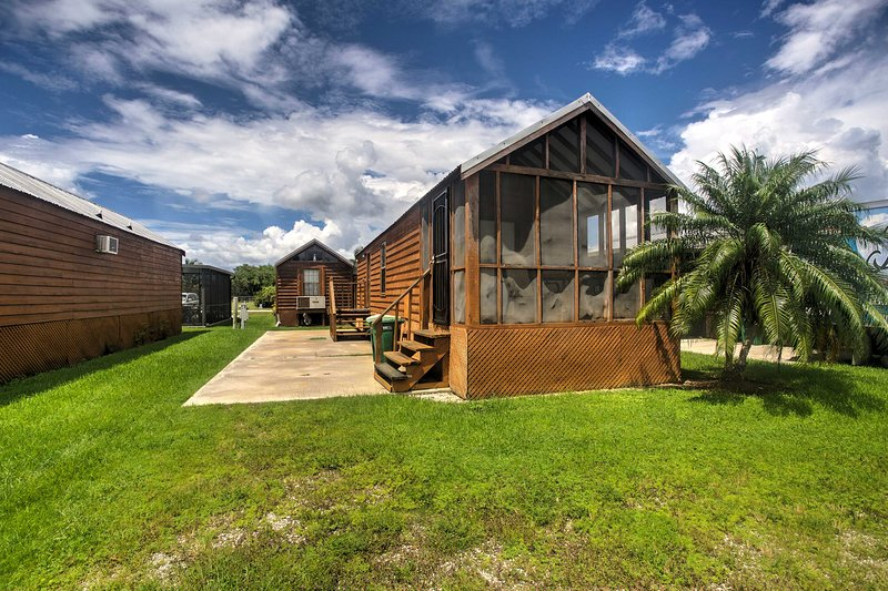Find peace in this 1-bathroom Everglades City vacation rental studio cabin.