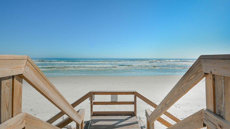 Take a step onto New Smyrna Beach.