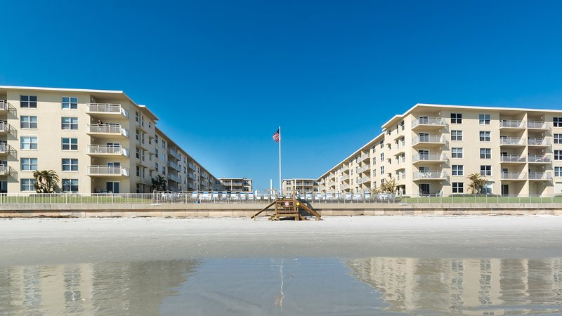 Sea Coast Gardens is located directly on the beach at New Smyrna