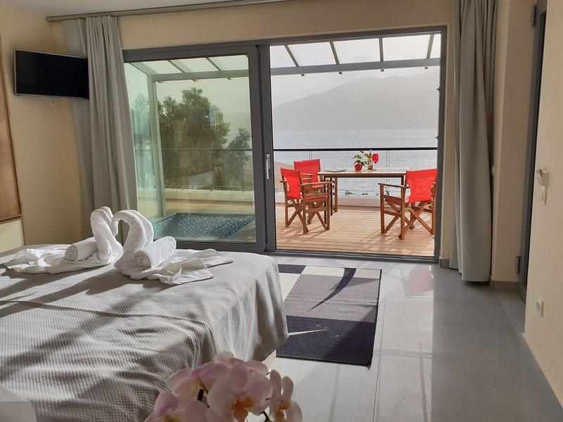 Villa Vass Seafront bedroom sea view