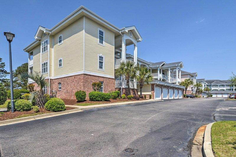 Haga recuerdos con amigos y familiares cuando se hospede en este condominio de Myrtle Beach.