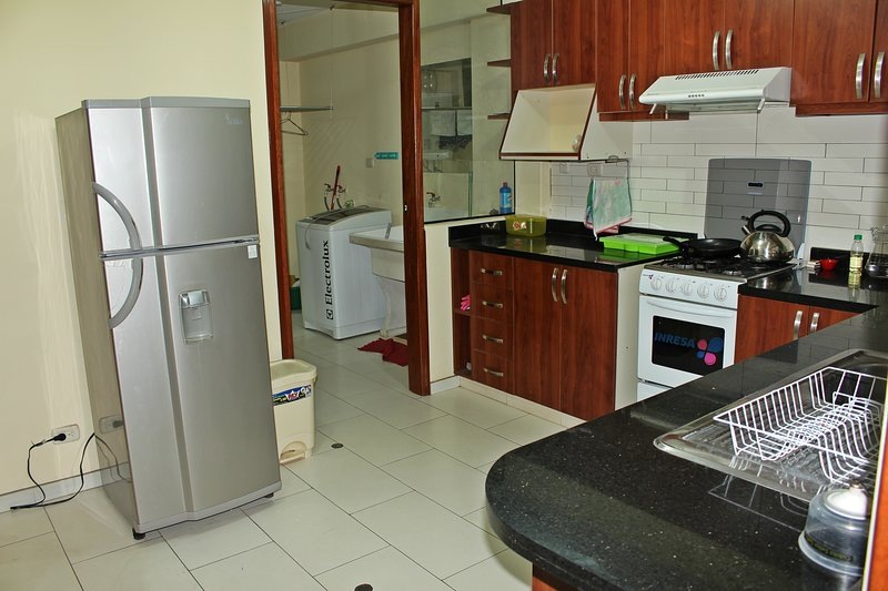 Fully furnished and equipped with refrigerator, furniture, dishes and utensils.