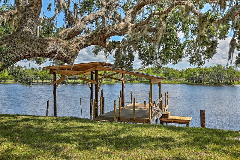 A blissful riverfront lifestyle will be yours at this vacation rental house!