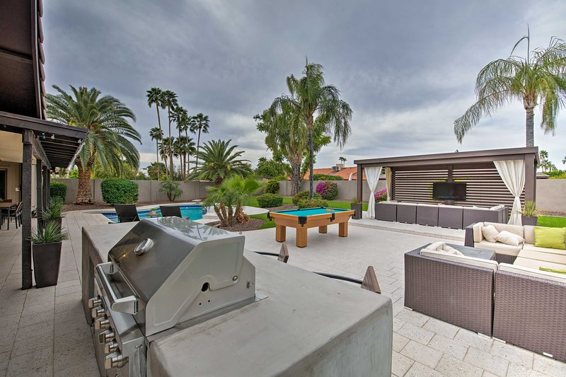 With so much entertainment, you'll never have to leave this Scottsdale home.