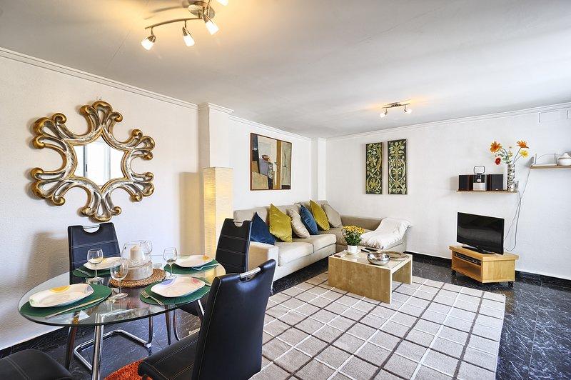 Jantar / sala de estar. aquecimento central completo e ar condicionado