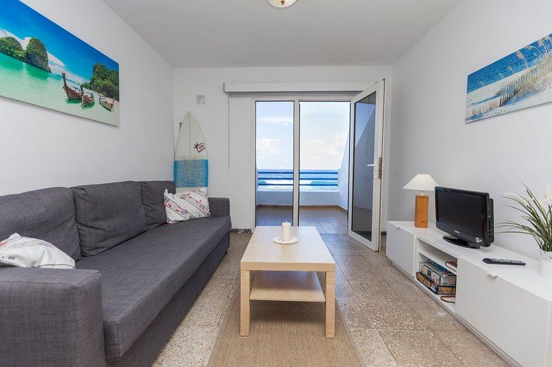Main living room with sea views.