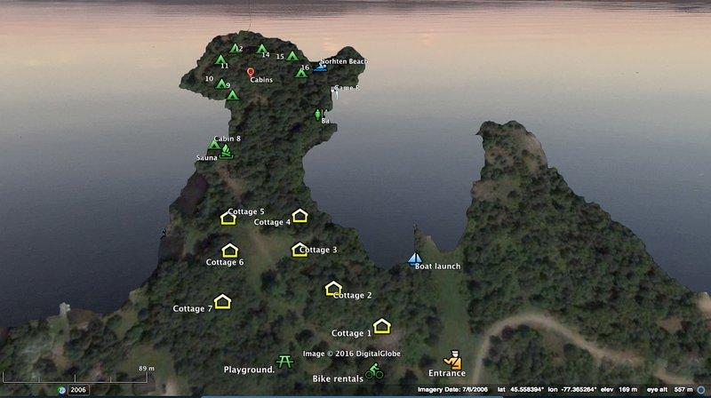 Plan of peninsula.