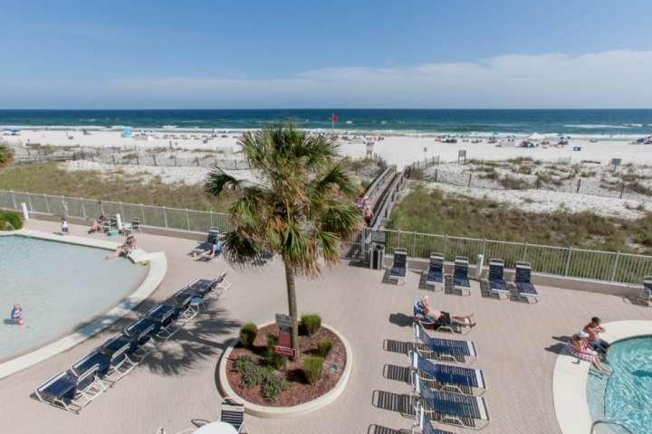Community pools, boardwalk, beach and Gulf