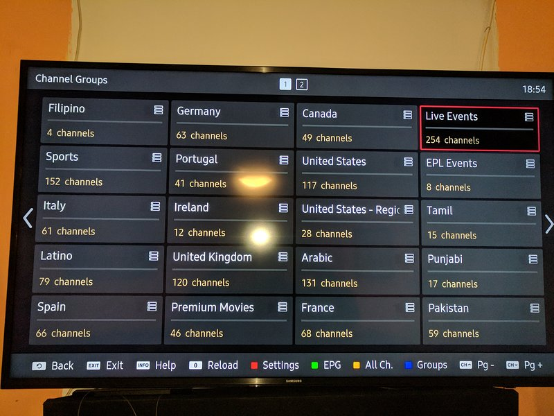 IPTV con múltiples canales