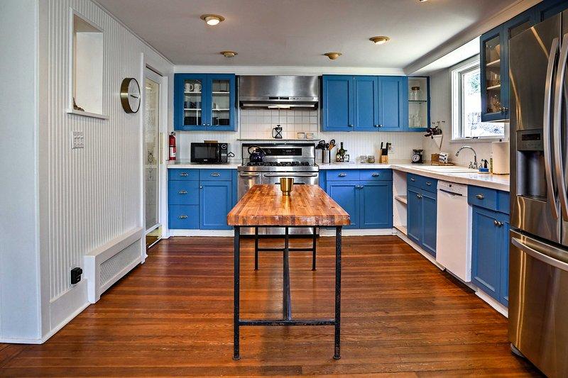 Cette cuisine spacieuse est l'image parfaite pour les selfies alimentaires Instagram.