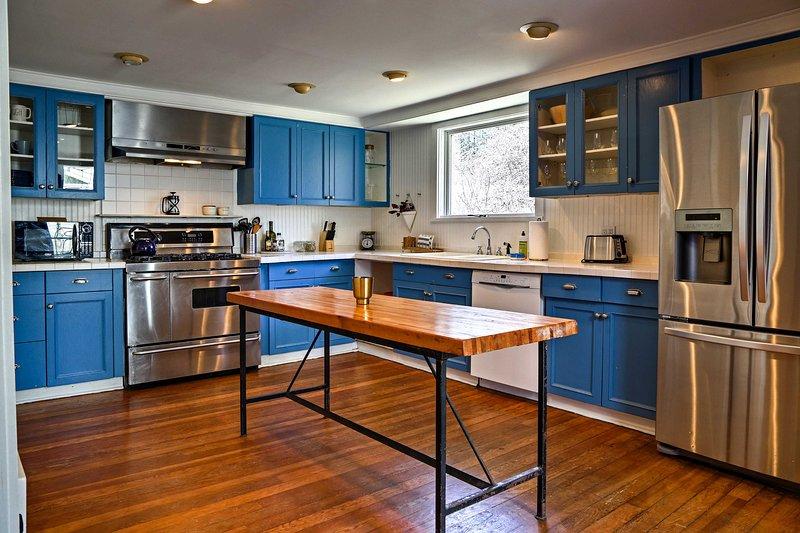 Votre chef résident sera baver sur cette cuisine entièrement équipée.