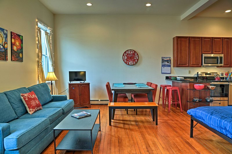 Step into the spacious and open living space.
