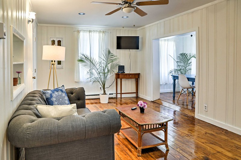 This charming 2-bedroom, 1-bath cottage is the perfect place to unwind.