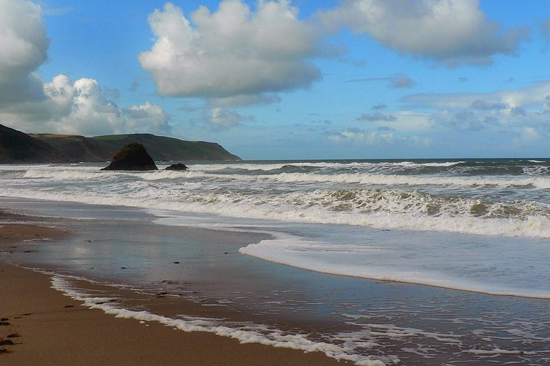Surfen am Strand Widemouth