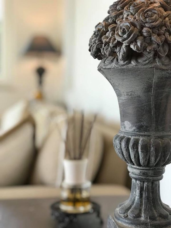 With Laura Ashley inspired  interiors and grey/white colour palettes internally throughout the villa