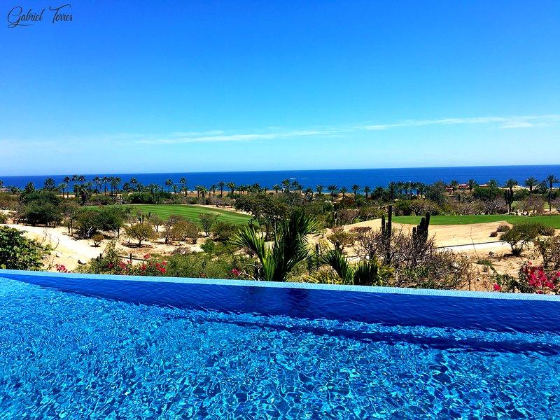 Increíble vista al mar y campo de golf