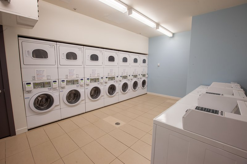 On-Site laundry, both washer / dryer, available to you with laundry hampers, and detergent provided.