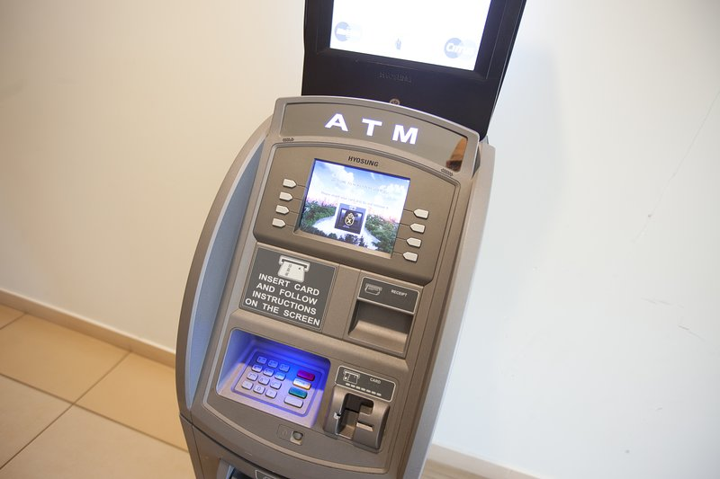 If you need cash, we have an on-site ATM at your service!