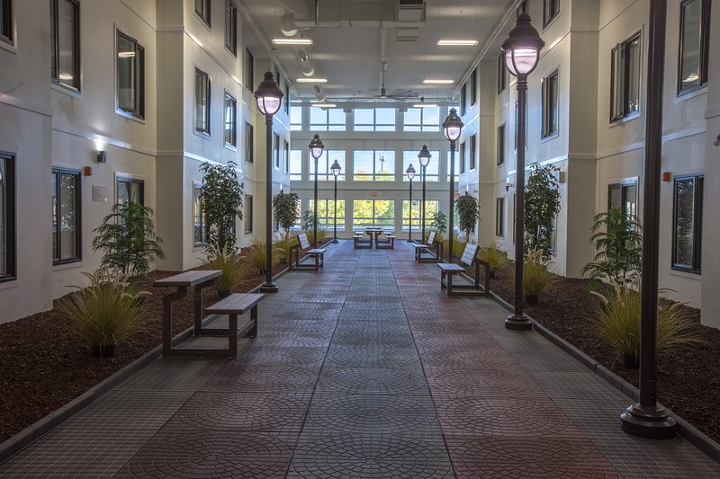 A very unique feature of our building is the indoor courtyard, it is heated year-round!