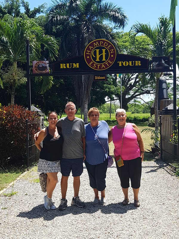 Amazing Rum tasting tour at the Hampden Estate with the best jerk pork and chicken for lunch.