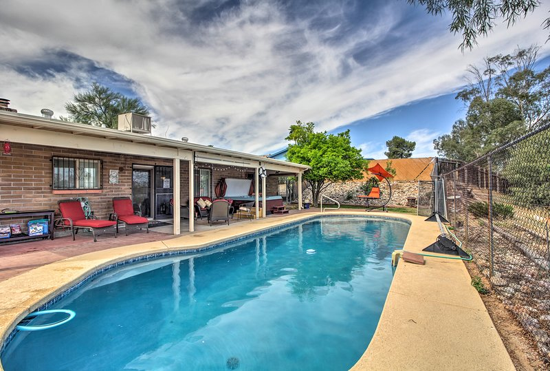 Escape to this beautiful 3-bedroom, 2-bath vacation rental home in Tucson!