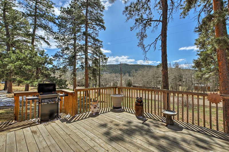 The great outdoors await at this Conifer vacation rental cabin!