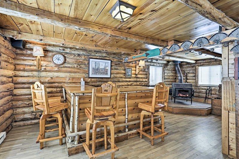 Détendez-vous dans ce 2 chambres, 1 salle de bains-location de vacances cabine Staples.