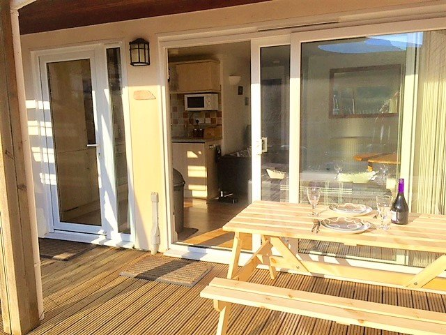 Large sunny terrace