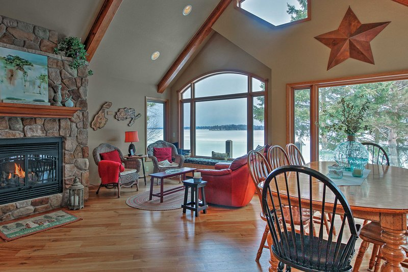 Look out to serene lake views from almost every room!