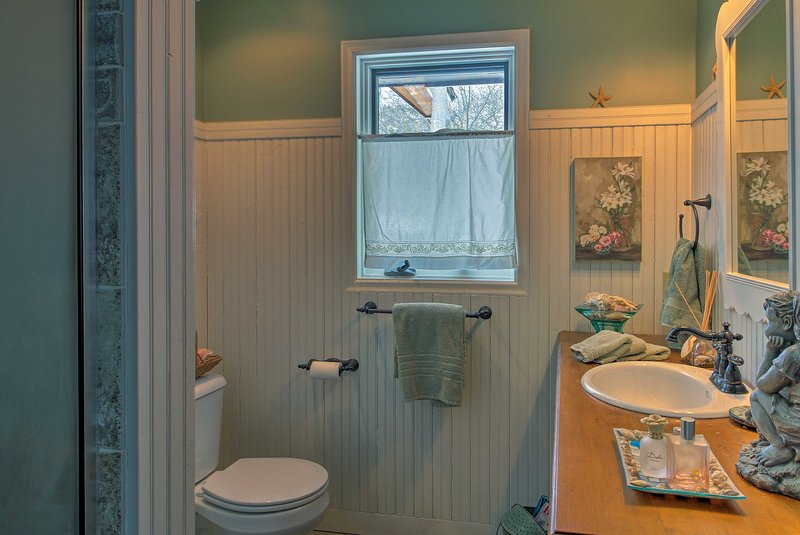 Freshen up throughout the day in the full bathroom!