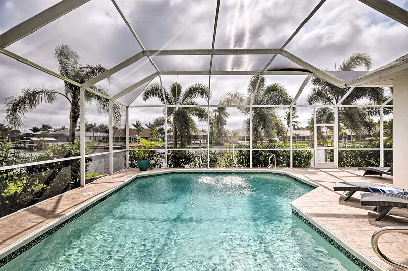 Unwind in this 3-bedroom, 3-bathroom vacation rental home in Cape Coral.