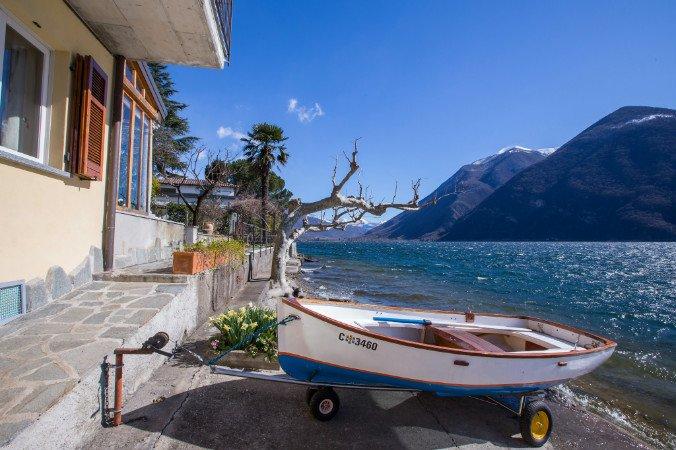 Right on Lake Lugano